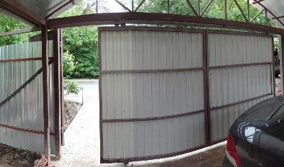 откатные ворота 3.5м с верней балкой